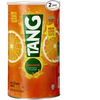 Tang Orange Powdered Drink Mix (Makes 22 Quarts), 72-Ounce Canister (Pack of 2) - $9.77 AC & Subscribe & Save($8.38 AC & 5 S&S Order) - Amazon Prime only