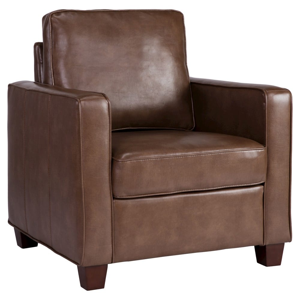 Threshold bonded leather square arm chair - $89 or less... YMMV!
