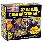 Contractor's Choice 24-Count 42-Gallon Outdoor Trash Bags $8.98 @ Lowe's