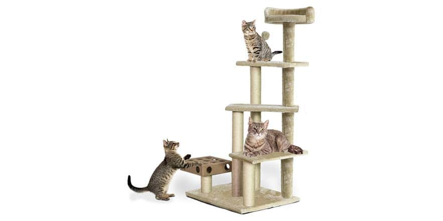 "Fur Haven Tiger Tough Cat Tree Clubhouse Playground 46"" - $33.99 Shipped With Prime @ WOOT"