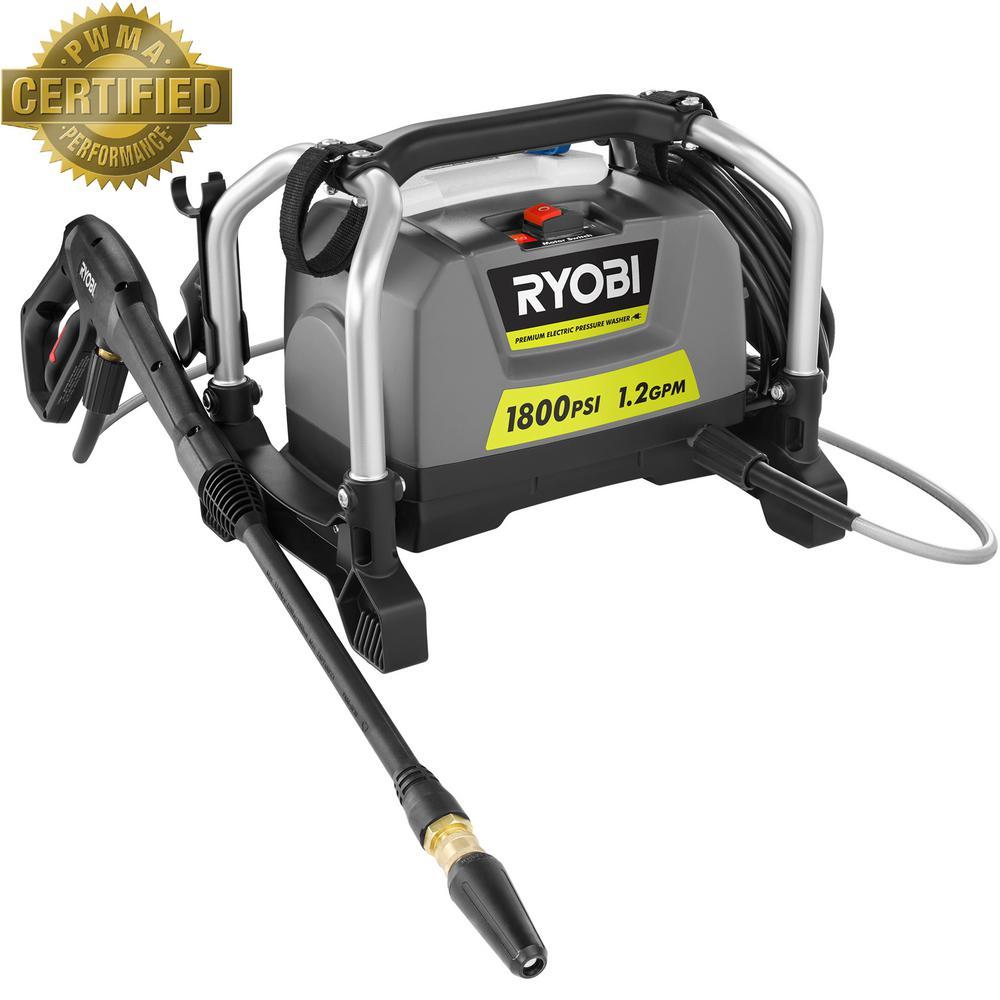 RYOBI 1,800 psi 1.2 GPM Electric Pressure Washer $99 @ Home Depot