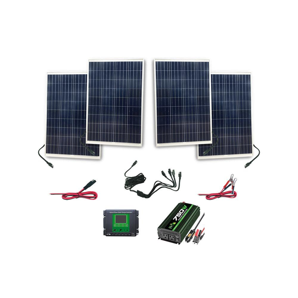 Nature Power 100 Watt High Power Complete Solar Kit $94 ( lots of other solar equipment on sale ) @ Home Depot