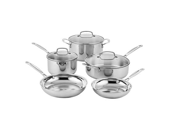 Cuisinart Classic Stainless Cookware Set (8-Pieces), 87-8  $74.99  Prime Only Or Cuisinart MultiClad Pro Stainless-Steel Cookware 8-Piece Cookware Set $129.99 Shipped Prime  @ WOOT