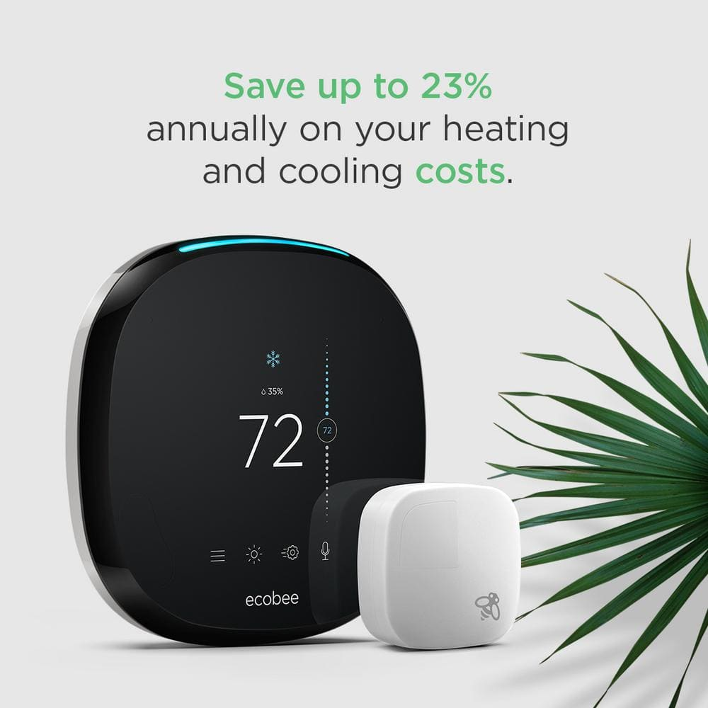 ecobee 4, 7-Day Smart Thermostat and Room Sensor Value Bundle $250 , ecobee ( 2pk ) 4, 7-Day Smart Thermostat Value Bundle $349 @ Home Depot