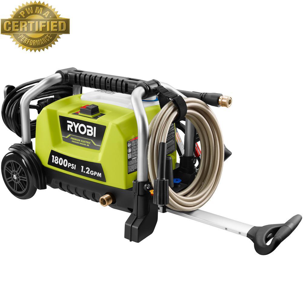 RYOBI 1,800 psi 1.2 GPM Wheeled Electric Pressure Washer $109 @ Home Depot