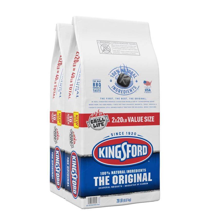 Kingsford 20 lbs. Original Charcoal Briquettes (2-Pack) $12.88 @ Lowe's  5/23 - 5/27