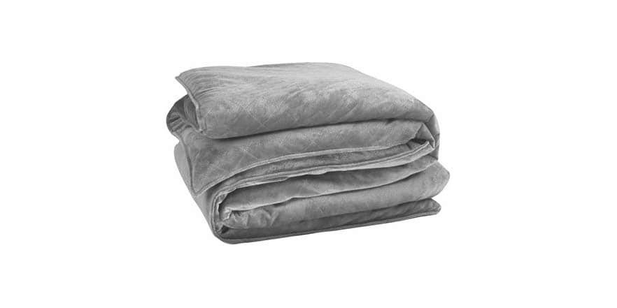 Bibb Home Premium Weighted Blanket - Dark Grey or Navy with Faux Mink Cover, Your Choice of Size $64.99 – $84.99 Shipped Free With Prime @ WOOT