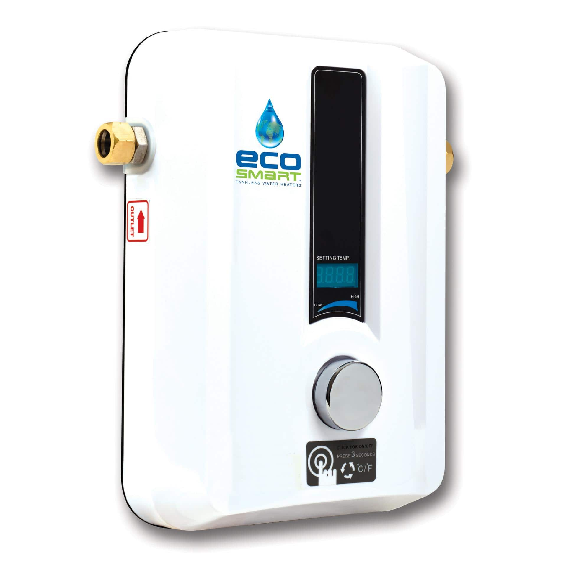 EcoSmart ECO 11 Electric Tankless Water Heater, 13KW @ 240 Volts $152.45 or ECO 27 Electric Tankless Water Heater, 27 KW 240 Volts $334.85 Shipped Free With Prime @ Amazon