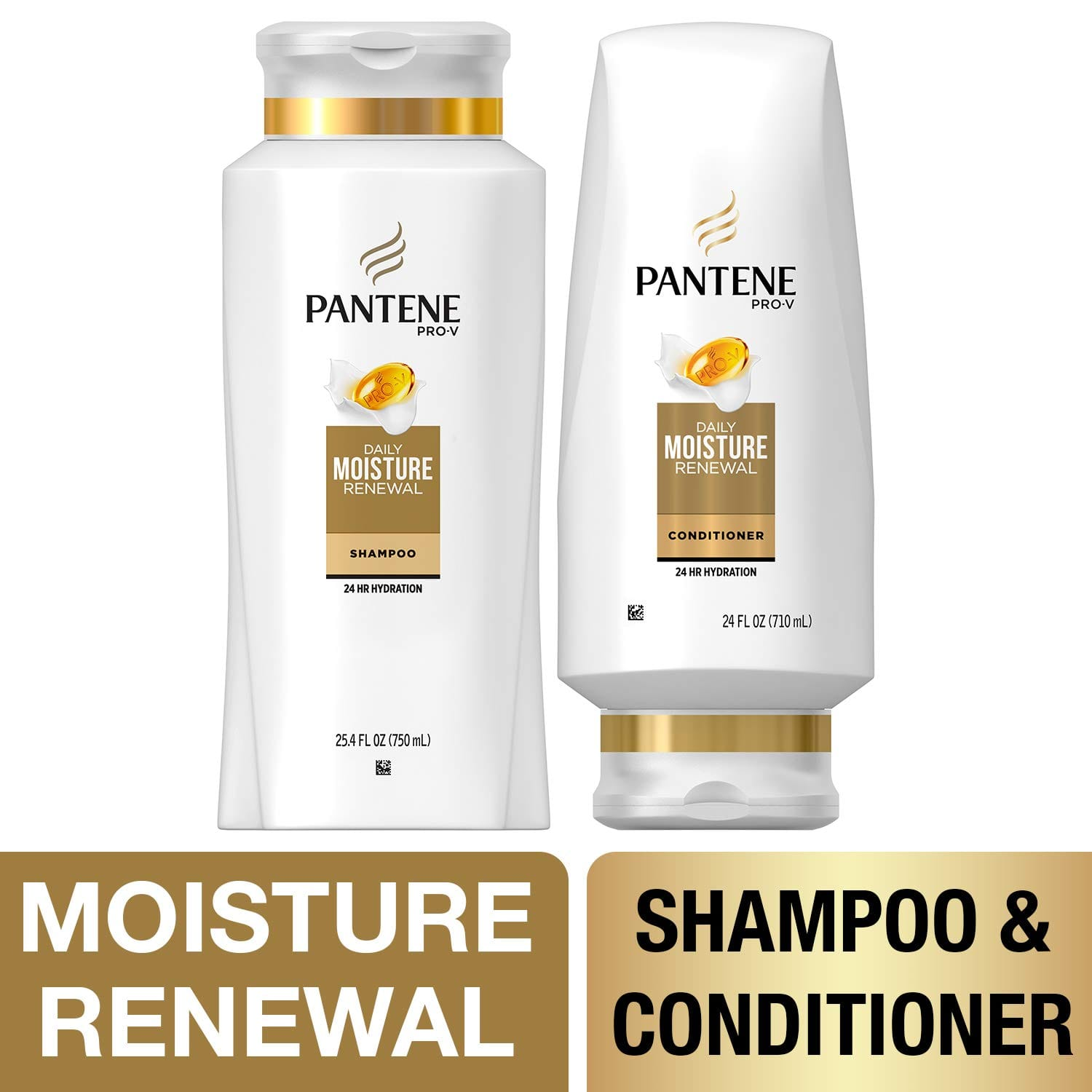 Pantene, Shampoo and Sulfate Free Conditioner Kit, Pro-V Daily Moisture Renewal for Dry Hair, 25.4 oz and 24 oz, Kit $9.09