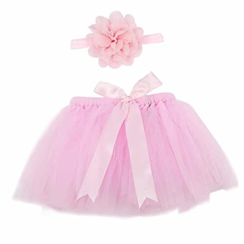 born Baby Girls Photo Photography Prop Tutu Skirt Headband Outfit Clothes Set $2.99