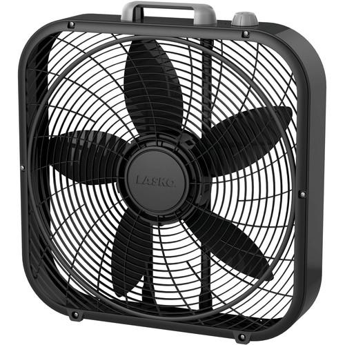 """Lasko Cool Colors 20"""" Box 3-Speed Fan, Model #B20301, Black [name: actual_color value: actual_color-black] $19.88"""