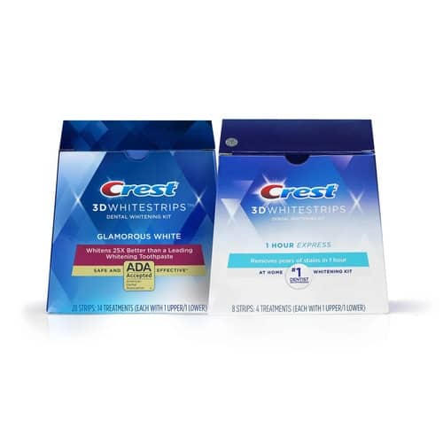 Crest 3DWhitestrips Glamorous White Value Pack With Bonus 1-Hour Express Whitening Strips  Buy 1 Get 1 Free