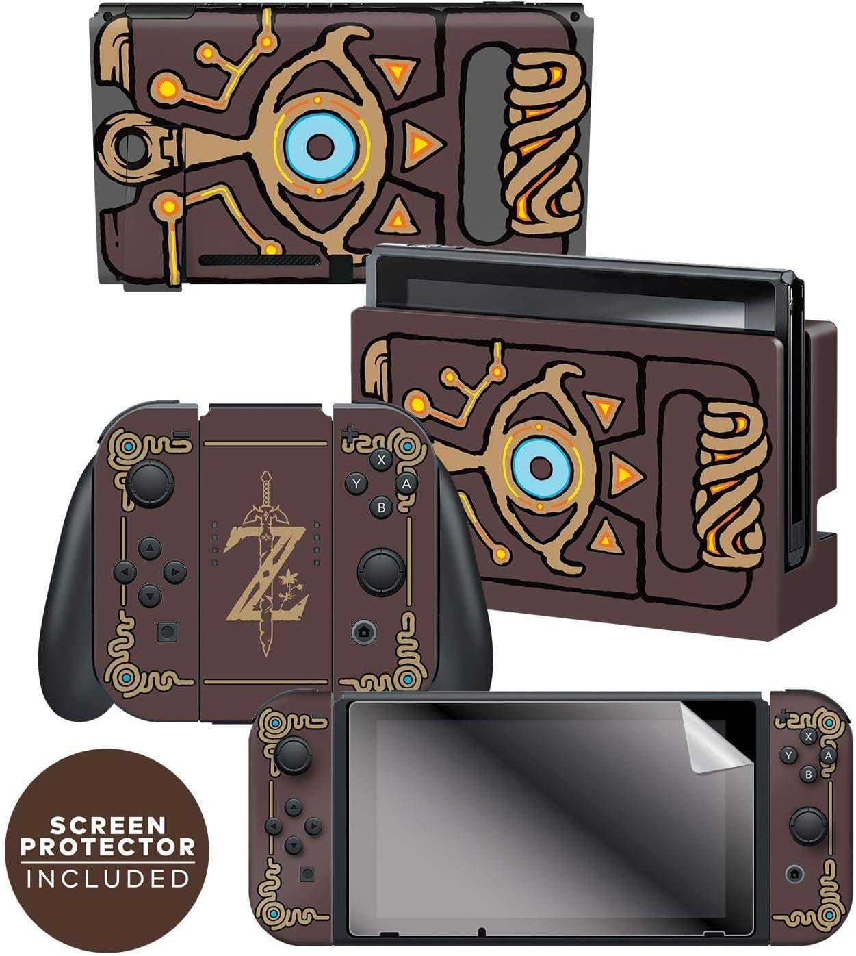 Controller Gear Officially Licensed Nintendo Switch Skin & Screen Protector Set $13.99