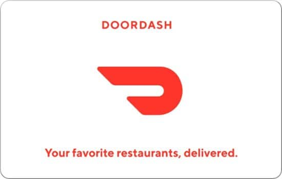 $100 Doordash Gift Card (or $50) - 10% off with email delivery $90