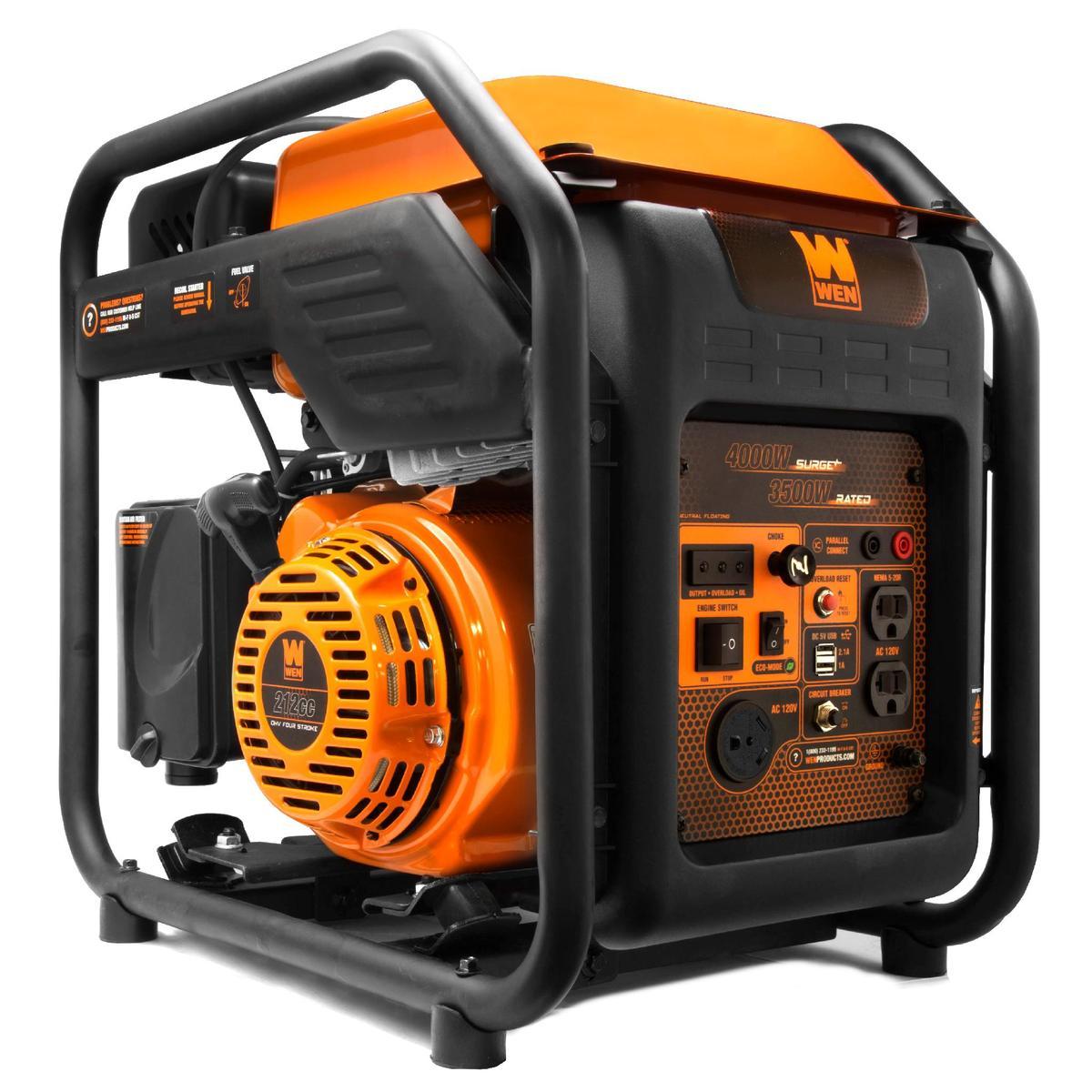 WEN GN400i RV-Ready 4000-Watt Open Frame Inverter Generator, CARB Compliant - Back in Stock - FS $393.81