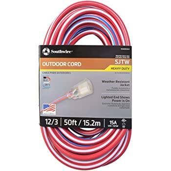 Southwire 02548-USA1 50-Foot Contractor Grade 12/3 with Lighted End - Prime FS - $27.76