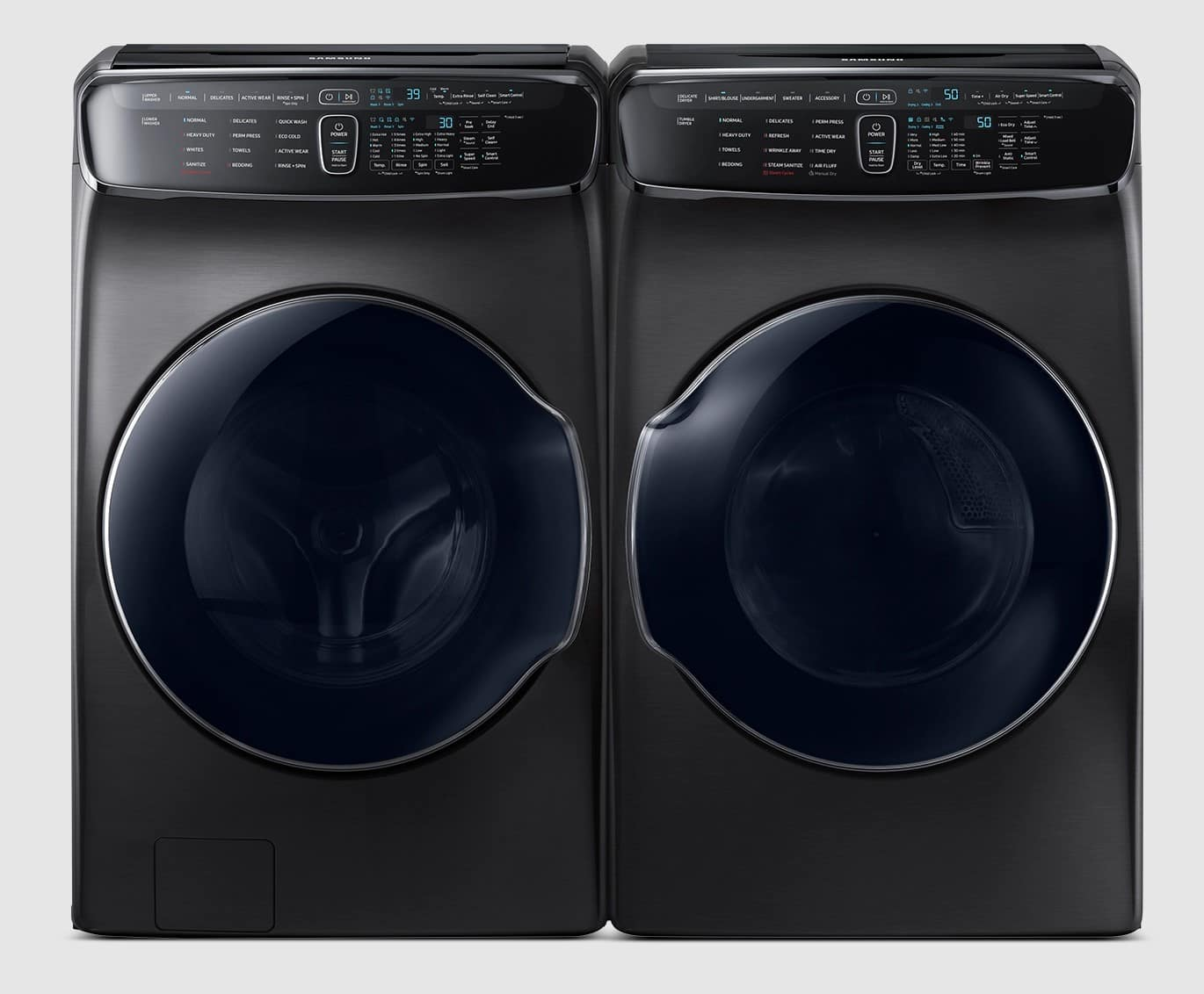 Samsung: Up to 40% off a premium washer and dryer set. From $1199