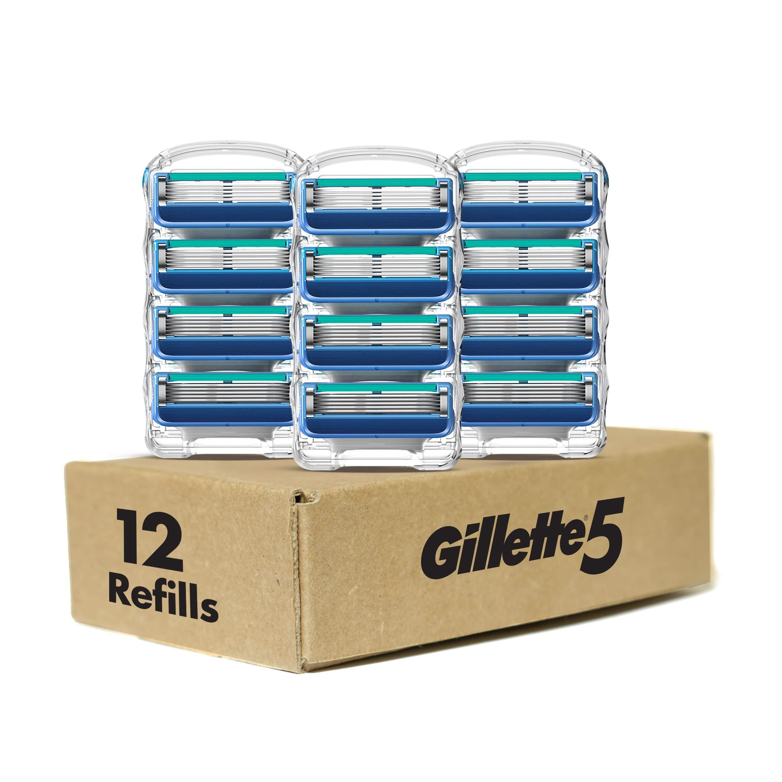 Amazon: 12 ct. Gillette5 Men's Razor Blade Refills $14.96 + Free Prime Shipping
