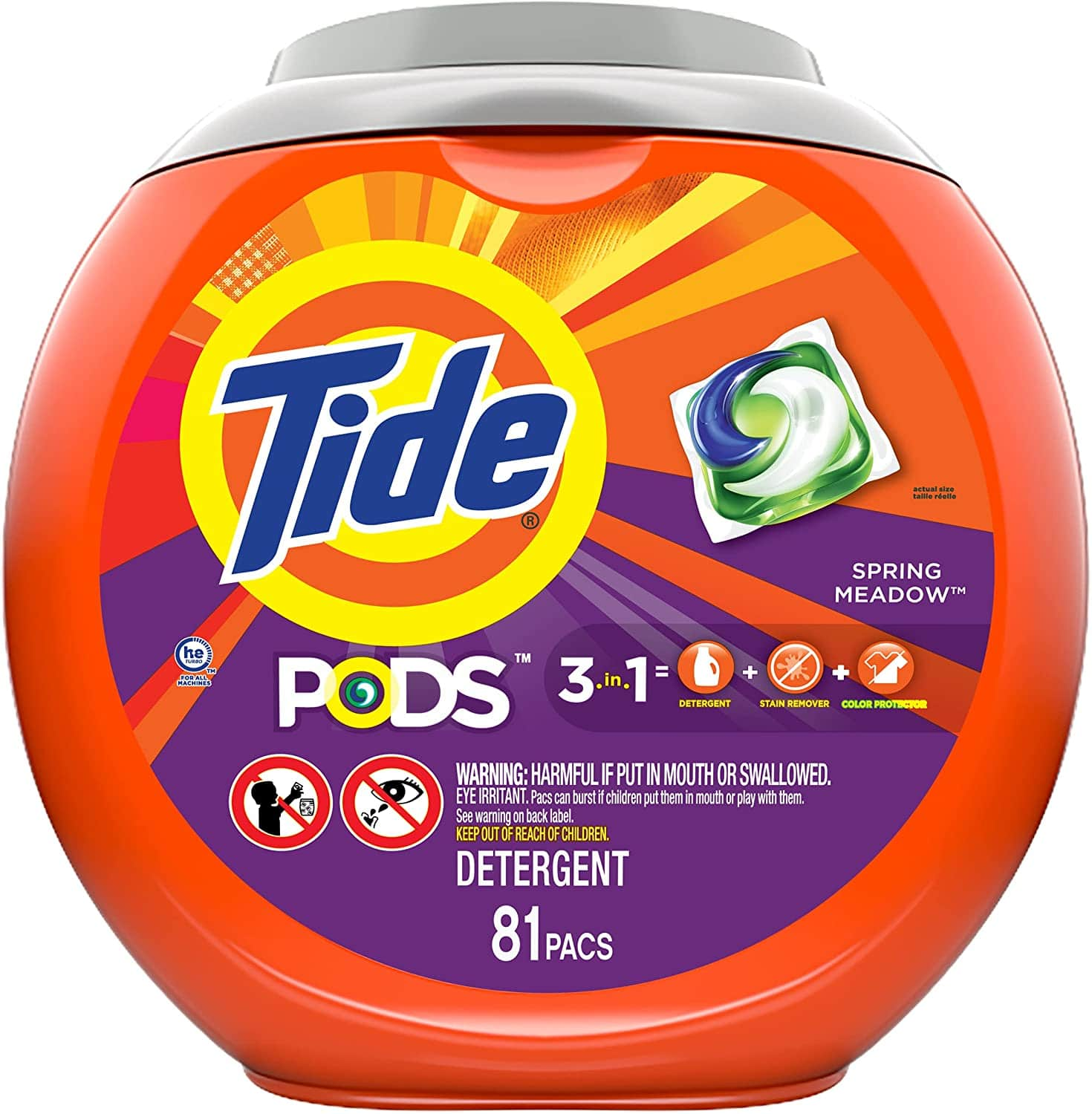 Amazon: 81 Pacs Tide Pods 3-in-1 Laundry Detergent Pacs, Spring Meadow Turbo $13.99 w/ S&S + Free Prime Shipping