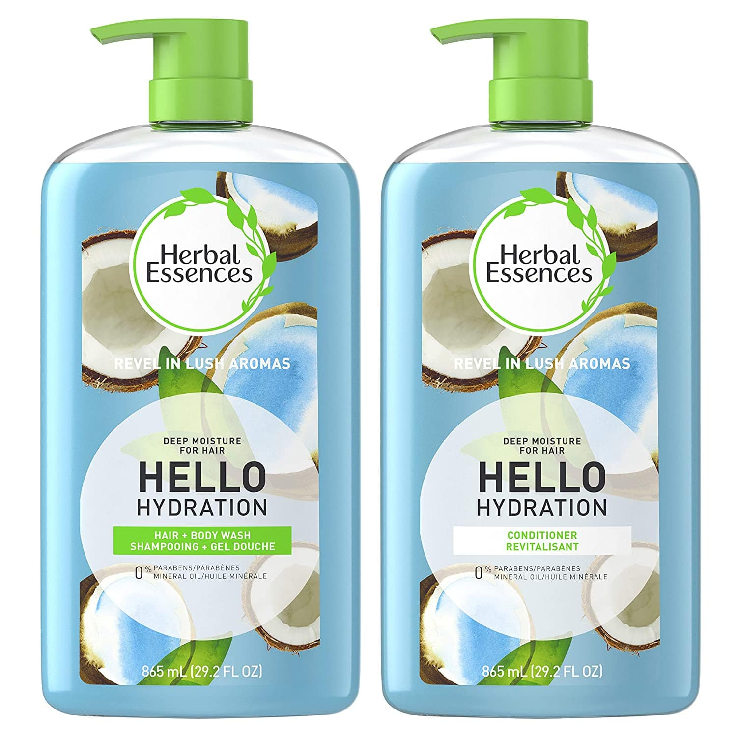 Amazon: Herbal Essences, Shampoo & Body Wash + Conditioner, Paraben Free, Hello Hydration Moisturizing, 29.2 fl oz, Kit for $12.45 & MORE