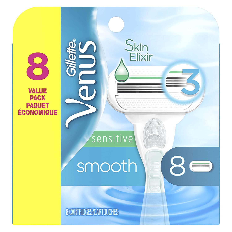 Amazon: Gillette Venus Smooth Sensitive Women's Blade - 8 Refills $16.06 & MORE