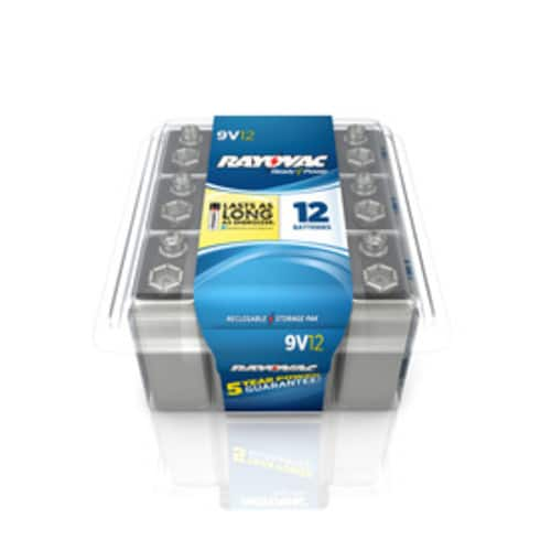 Rayovac Alkaline Batteries 12-Pack 9V, 60-Pack AA and AAA - $10.99 each at Lowe's