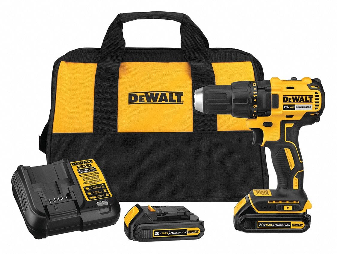 """Dewalt 20V MaX Li-Ion 1/2"""" Cordless Drill/Driver with 2 batteries and charger, only $99"""
