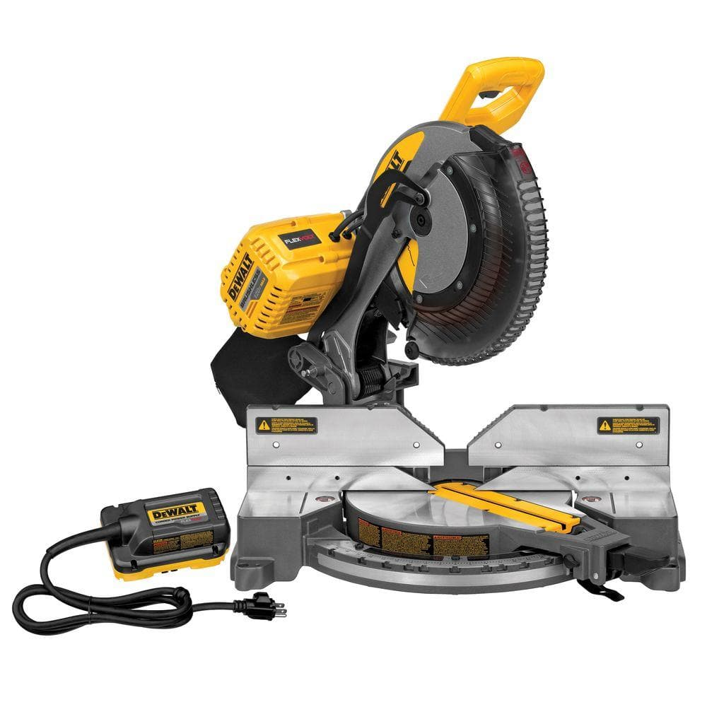DEWALT FLEXVOLT 120-Volt MAX Lithium-Ion Cordless Brushless 12 in. Miter Saw w/ AC Adapter (Tool-Only) - $249