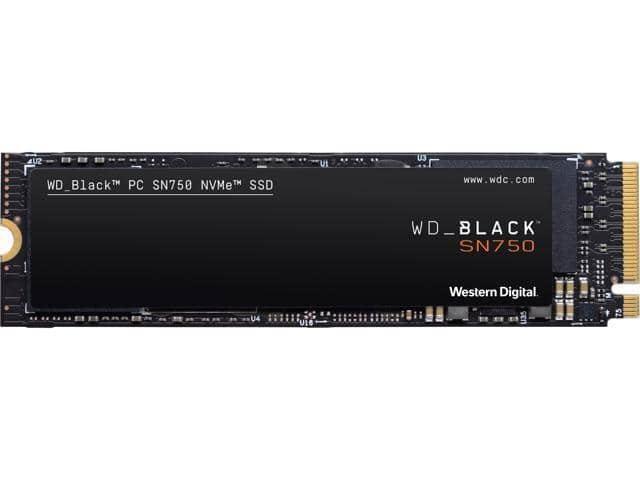 WD_Black SN750 500GB NVMe Internal Gaming SSD for $62.99