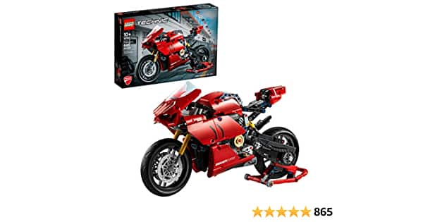 646-Piece LEGO Technic Ducati Panigale V4 R Motorcycle Toy Building Kit (42107) - $56.99