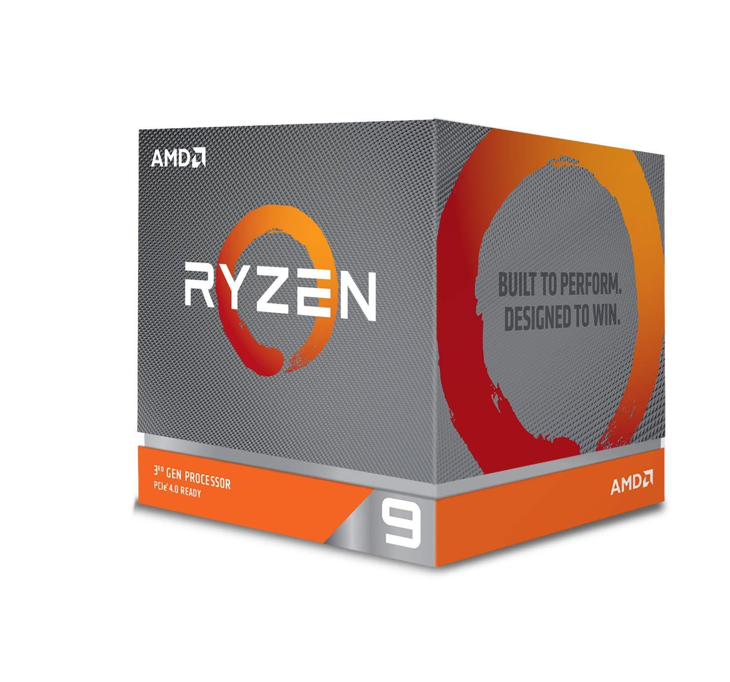 AMD Ryzen 9 3900X 12-core, 24-Thread Unlocked Desktop Processor with Wraith Prism LED Cooler [Processor] $493.84