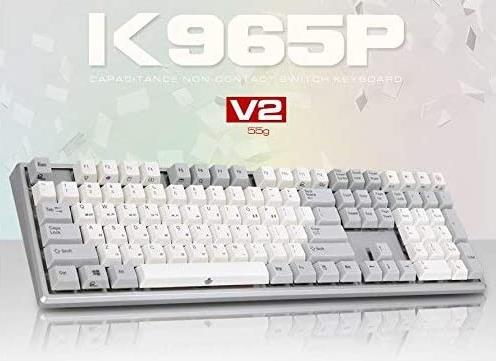 ABKO K965P V2 55g Capacitance Non-Contact Switch Keyboard Nkey-Rollover, Stabilizer, Waterproof, Cherry MX Profile, PBT KeyCap $110