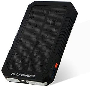ALLPOWERS High Quality 12000mAh Dual USB Solar Battery Charger $18.96 AC @ Amazon with Prime or FSSS