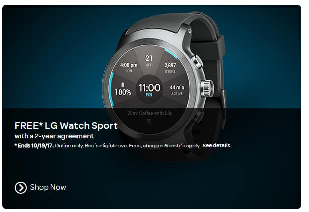 LG Watch Sport - Free with 2yr Agreement on AT&T