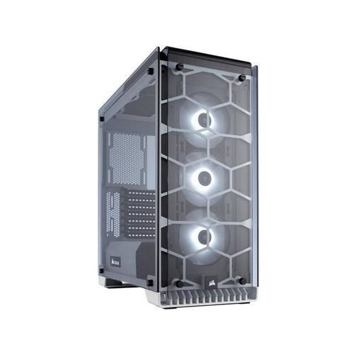CORSAIR Crystal 570X RGB Tempered Glass, Premium ATX Mid Tower Case, White for sale at Newegg. $149.99