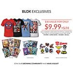 TeeBlox Subscription : Get your favorite licensed geek and gamer gears delivered. Only $9/month with 35% for life coupon (only today)