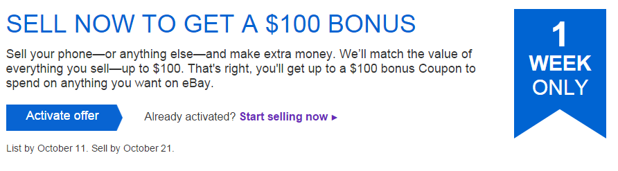 List and sell to earn a $100 eBay Coupon! YMMV (By Invitation Only) Click link in description to check eligibility