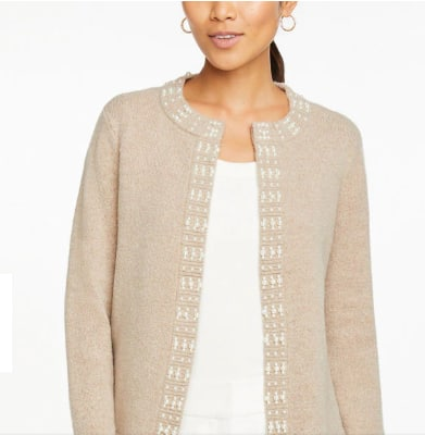 Pearlized Open Cardigan for $29.99 @anntaylor.com