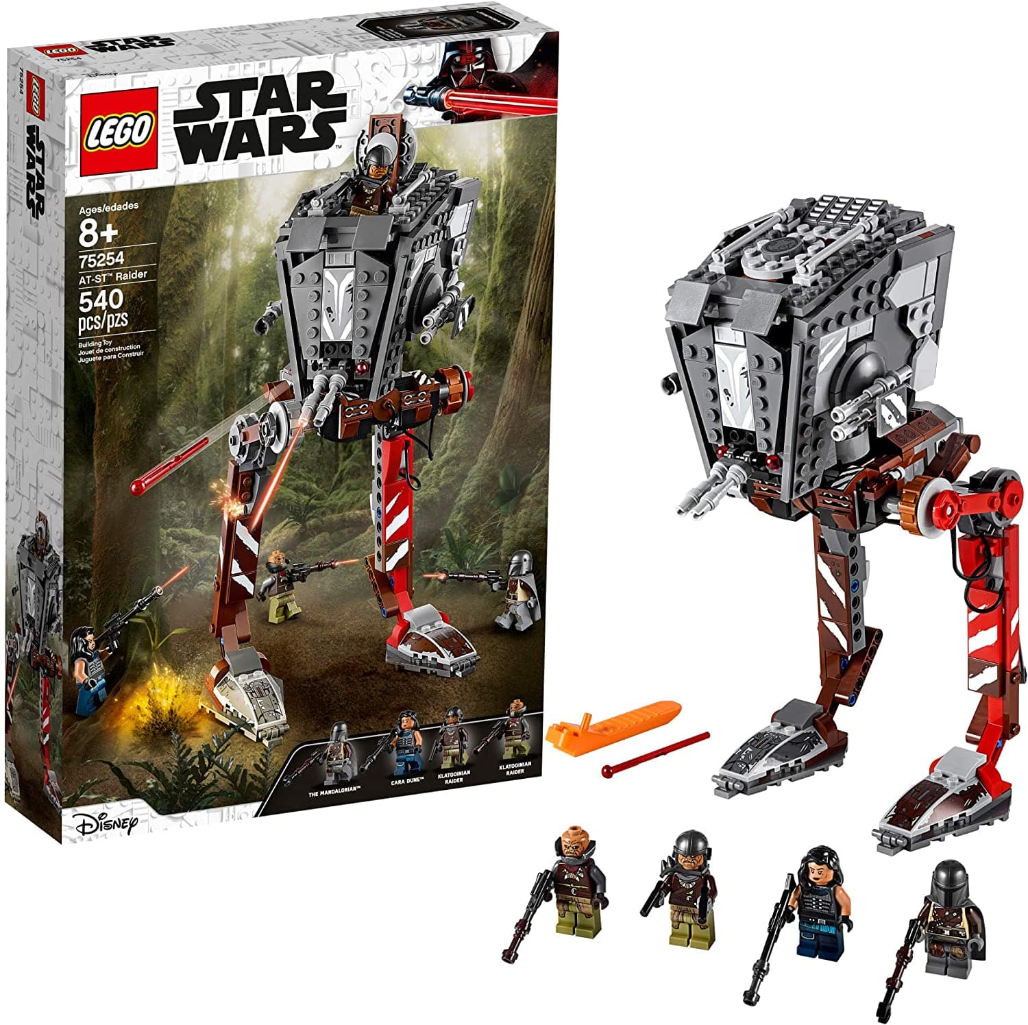 LEGO Star Wars AT-ST Raider 75254 The Mandalorian Collectible All Terrain Scout Transport Walker Posable Building Model (540 Pieces) $49.99