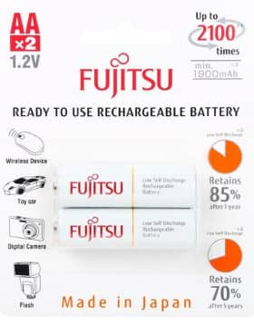 Fujitsu AA Rechargeable batteries... 8 for $16.