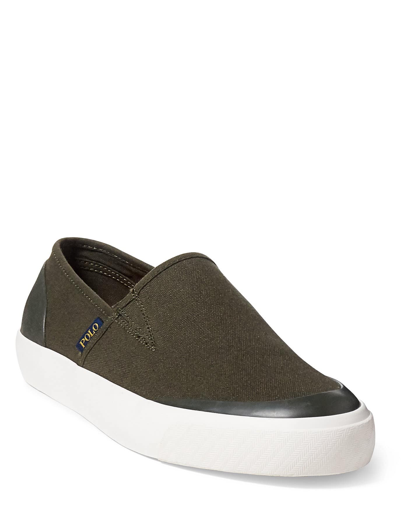 Polo Ralph Lauren Itford Canvas Slip-On Sneaker in Black, Company Olive, or White: $25 + FS