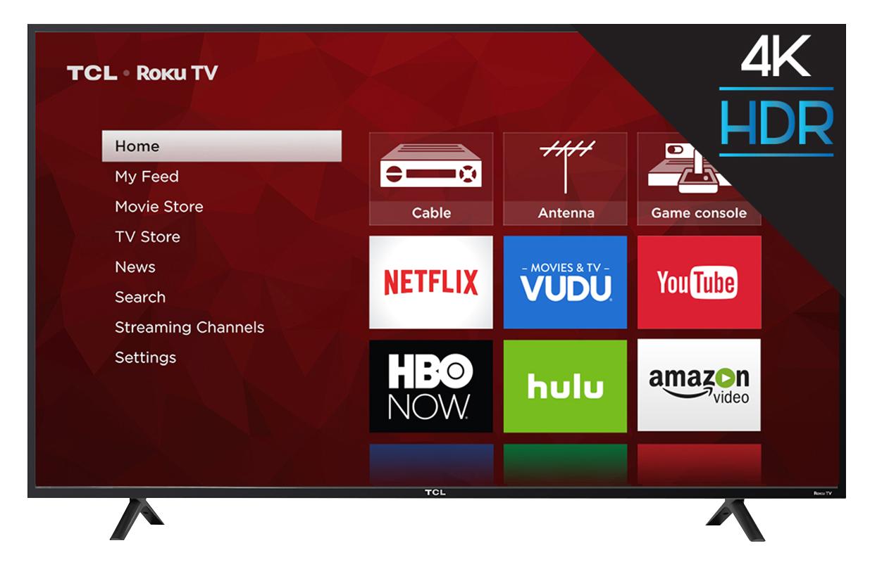 """BJs has the TCL 55S403 55"""" 4K UHD HDR Smart Roku LED TV - $299.99"""