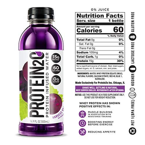 Protein2o Low-Calorie Protein Infused Water, 15g Whey Protein Isolate, Harvest Grape (16.9 Ounce, Pack of 12) $12.96