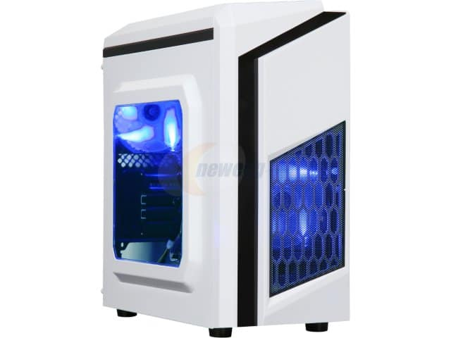 DIYPC DIY-F2-W White SPCC Steel MicroATX Mini Tower Computer Case $19.99 AR at newegg