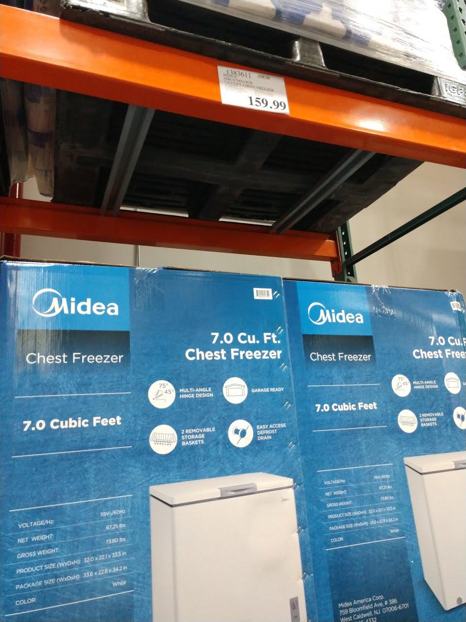 Midea 7.0 Cu Ft Top Draw Freezer $160 at Costco B&M YMMV