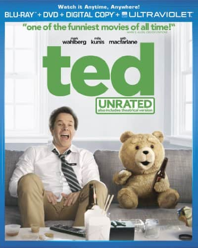 Ted (Unrated Blu-ray + DVD + Digital Copy + UltraViolet) $6.99 Amazon
