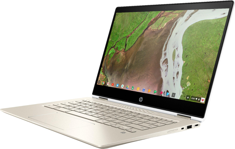 "HP - 2-in-1 14"" Touch-Screen Chromebook - Intel Core i5-8250U - 8GB Memory - 64GB eMMC Flash Memory - White, Gold $399"