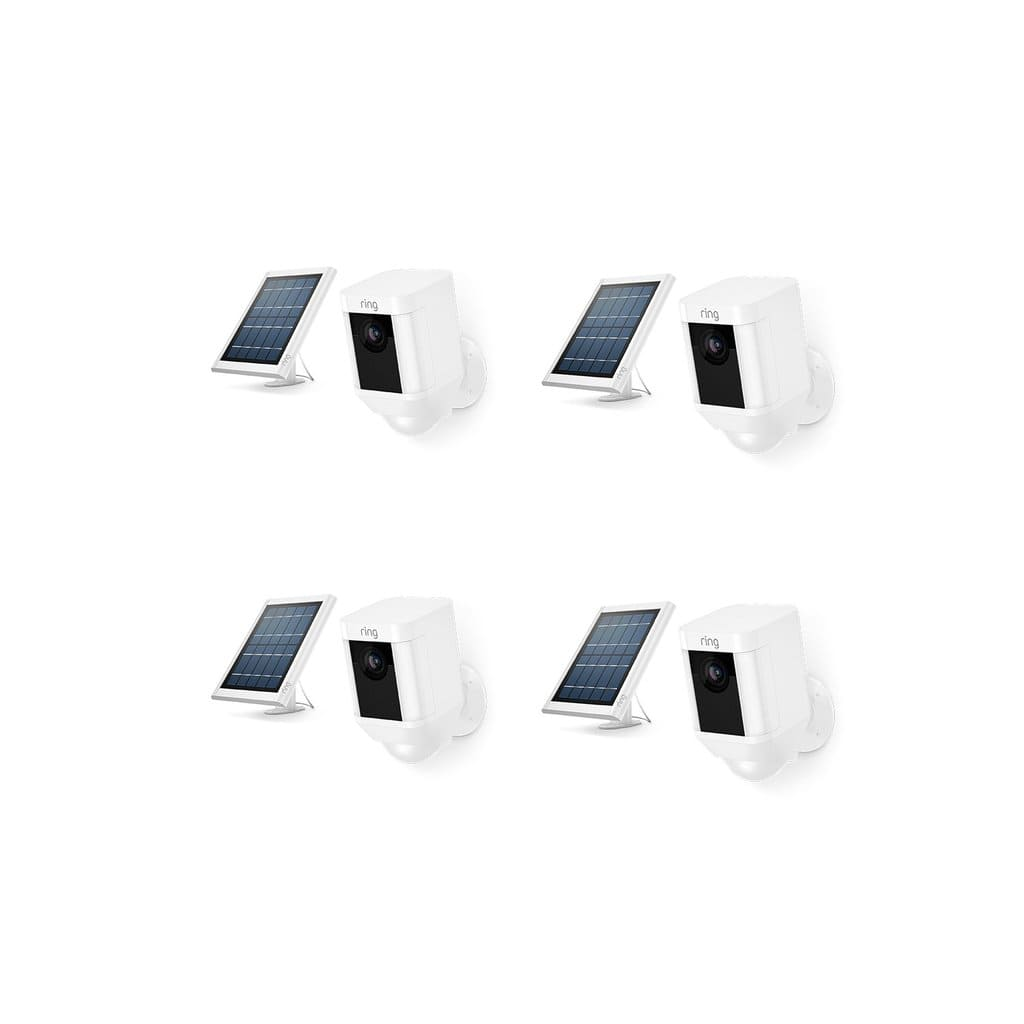 4-Pack Ring Spotlight Cam Battery + Solar Panels $560.88