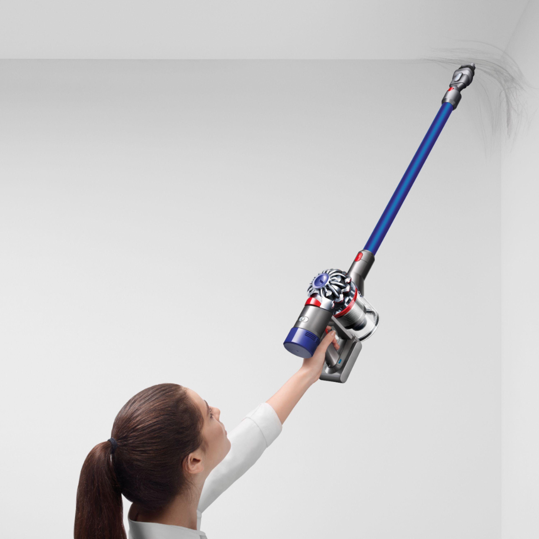 Dyson - V7 Fluffy Hardwood Cord-Free Stick Vacuum - Iron/Blue $229.99
