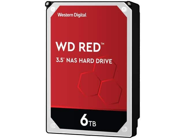 WD Red 6TB NAS Hard Disk Drive - 5400 RPM Class SATA 6Gb/s 256MB Cache 3.5 Inch - WD60EFAX $129.99